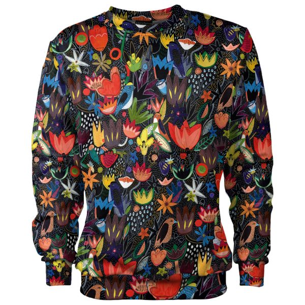 Coloful jungle sweatshirt for kids cacofonia milano