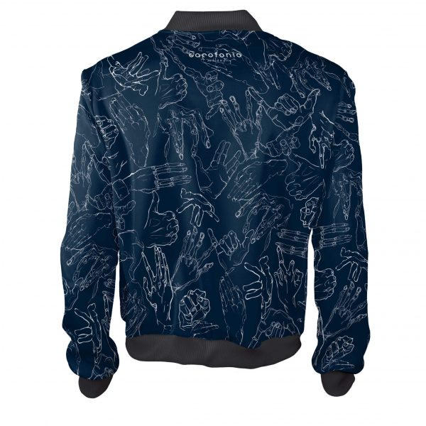 Egon Schiele Hands granatowwe ubrania blue white Cacofonia Milano clothes inspired by art7