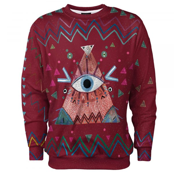 Burgundy Eye_psychodelic_god eye_red_indian clothes_indie_hipster_cacofoniamilano 3