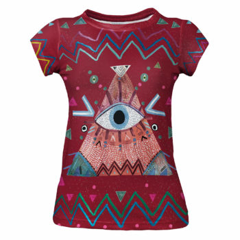 Burgundy Eye_psychodelic_god eye_red_indian clothes_indie_hipster_cacofoniamilano 8