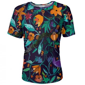 Garden of Eden_rajski ogród_floral motifs_clothes with flowers_snake_Cacofonia Milano a9