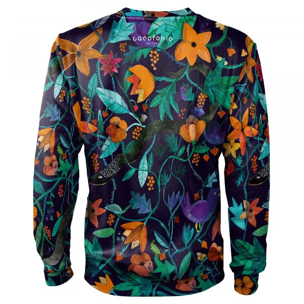Garden of Eden_rajski ogród_floral motifs_clothes with flowers_snake_Cacofonia Milano4