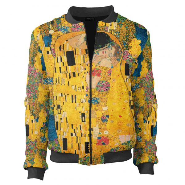kiss klimt bomber jacket