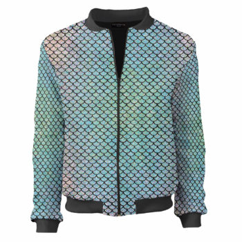 Mermaid bomber jacket fish łuski disco jacket (1)
