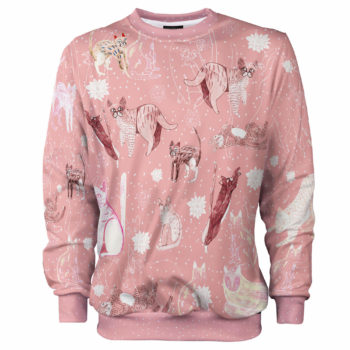 Pink Cosmic Cats koty sweet animals clothes Cacofonia Milano art (2)