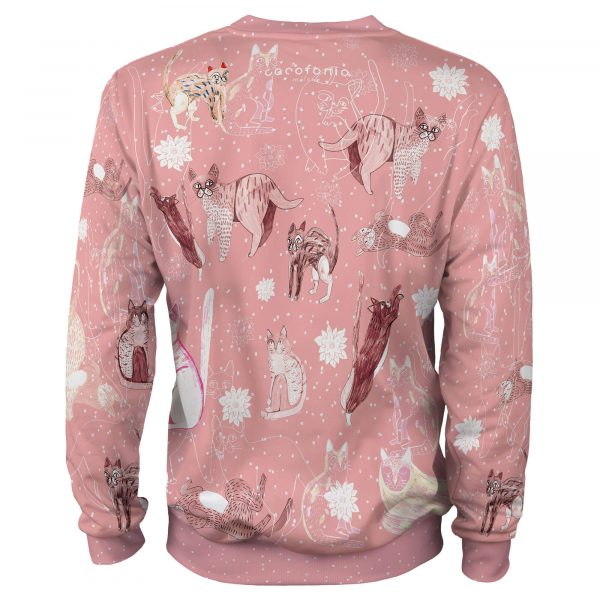 Pink Cosmic Cats koty sweet animals clothes Cacofonia Milano art (3)