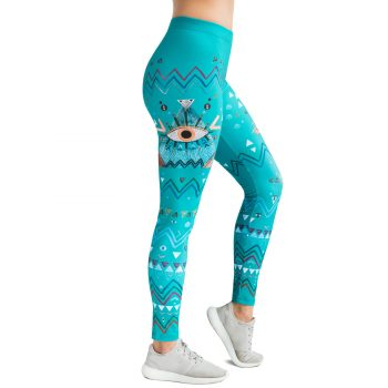 Green Eye leggins indian boho style leggins