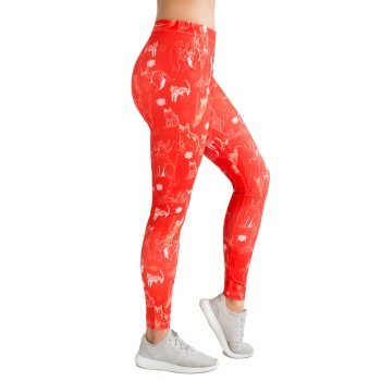Red leggins with cats and kittens Cacofonia Milano
