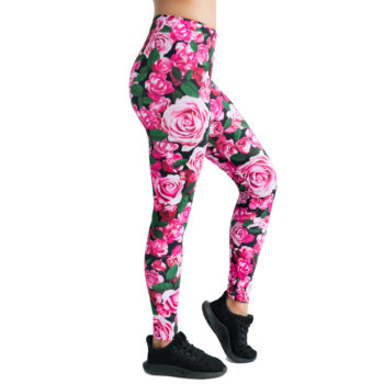 Pink Leggins with roses print Cacofonia Milano