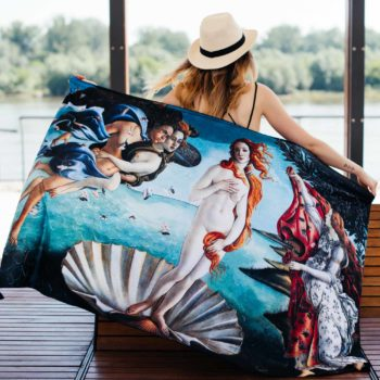 Venus Botticelli -  Birth of Venus shawl - pareo for summer Cacofonia Milano