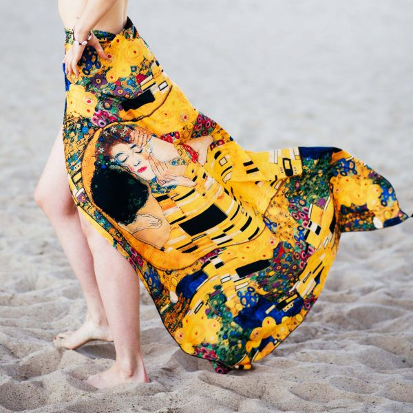 Kiss Klimt - yellow pareo Cacofonia Milano