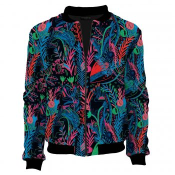 Fluorescent bomber jacket, jacket in colorful Acid Forest designs. A bomber for events sewn in Poland (1)