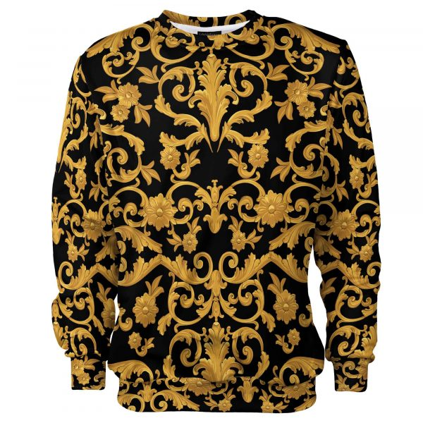 Black and gold Cacofonia Milano fullprint jumper