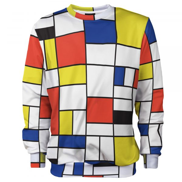Colorful Mondrian sweater. Cacofonia Milano clothes with art (3)
