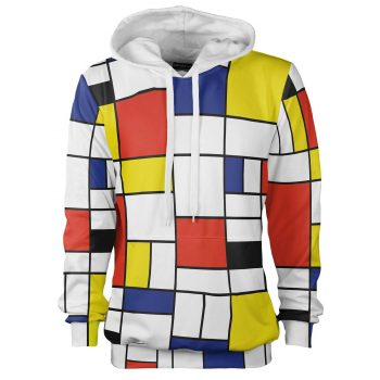 colorful Piet Mondrian hoodie, Cacofonia Milano clothes with art (1)