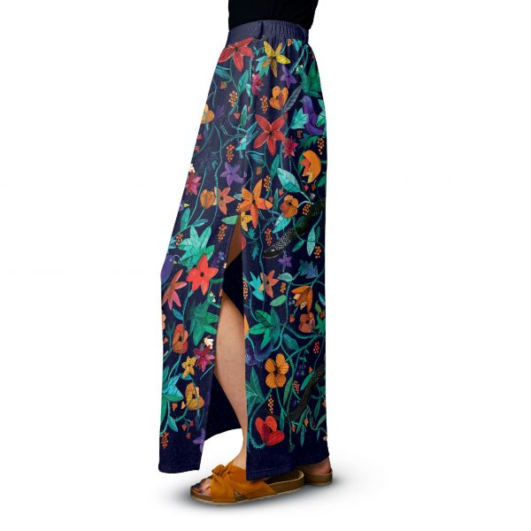 A long maxi skirt with flowers