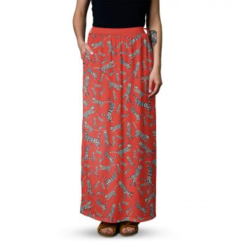 Red cats skirt - Maxi skirt from Cacofonia Milano - long skirt (1)