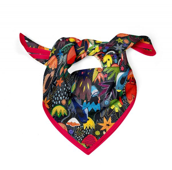 Colorful Jungle-Square Scarf-Aga-Glod-Cacofonia-Milano