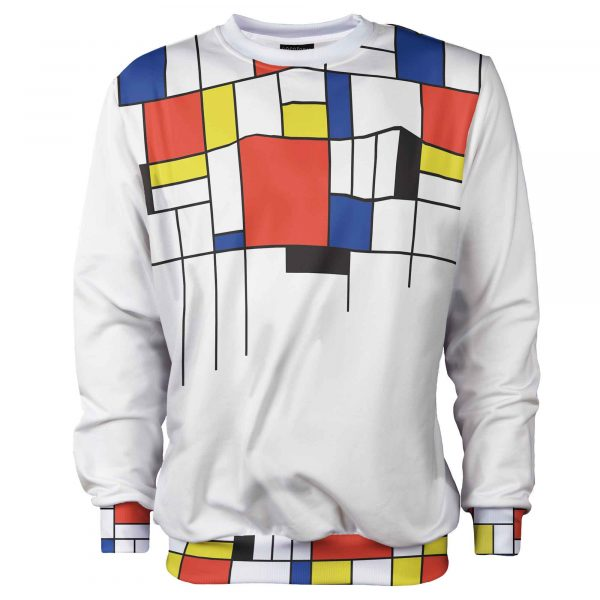 white jumper mondrian