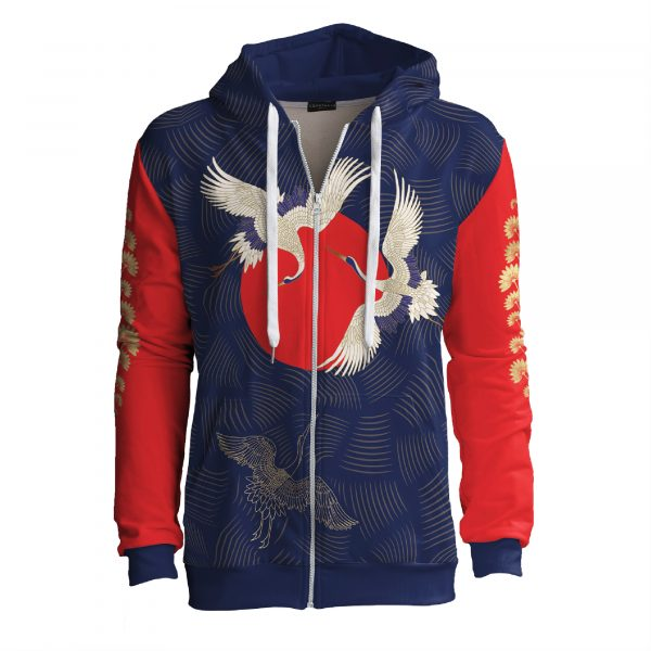 The-Cranes-Are-Flying-Zip-up-hoodie-Cacofonia-Milano