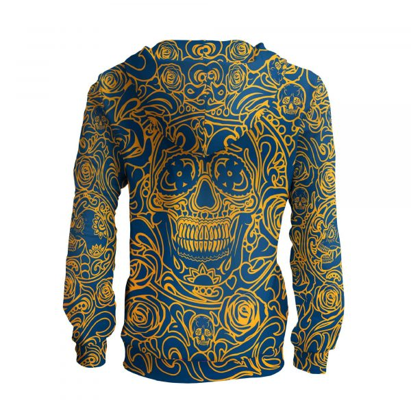 colorful hoodie with skull