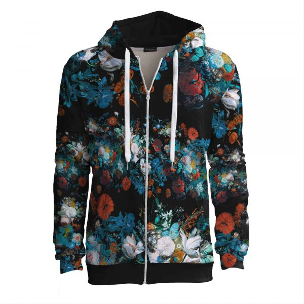 Still Life-zip-up-hoodie-with-flowers